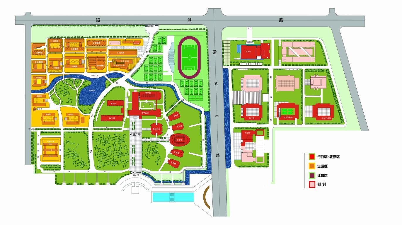 40套大学中学校园校区规划景观设计总cad平面图[原创]_定鼎网